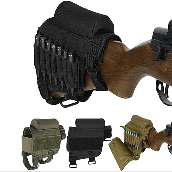 top popular FIRECLUB Tactical Buttstock Cheek Rest with Ammo Carrier Case Holder for .308 .300 Winmag 2021