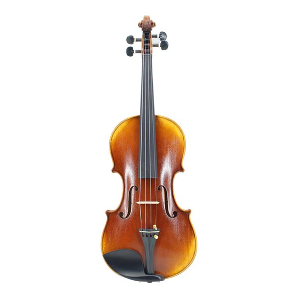 Natural Flamed Maple Violins Master Handmade Oily Paint Antique Violin w/ Full Set Parts for Professional Violin Player