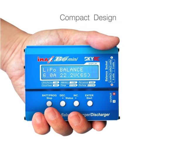 Original SKYRC IMAX B6 MINI Balance Charger/Discharger For RC Helicopter Re-peak NIMH/NICD Aircraft+Power Adpater(optional)