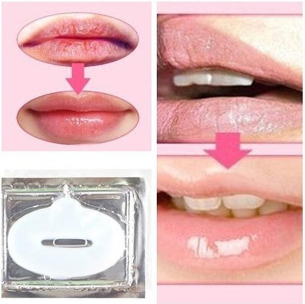 Women Lady Lip Masks Gold Sexy Crystal Lip Membrane Collagen Moisture Essence Plump Essentials Mask for Lip Care Cosmetic Free Shipping