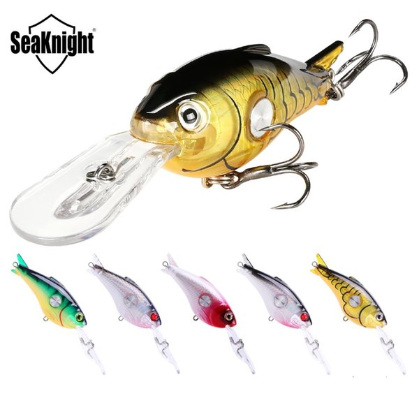 SeaKnight SK003 Crankbait 55mm 10g 1.8-3.9M 5Pcs Hard Fishing Lures Floating Wobblers Crank Hard Bait Sea Carp Fishing Lure SetY1883004