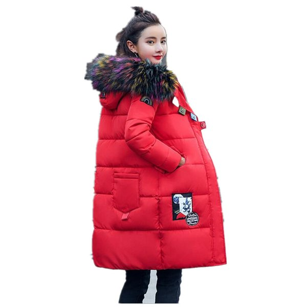 Fashion Snow Wear Large Fur Collar Ladies Coats 2017 Winter Coat Women Parka Long Thick Womens Coats And Jackets Outerwear k130