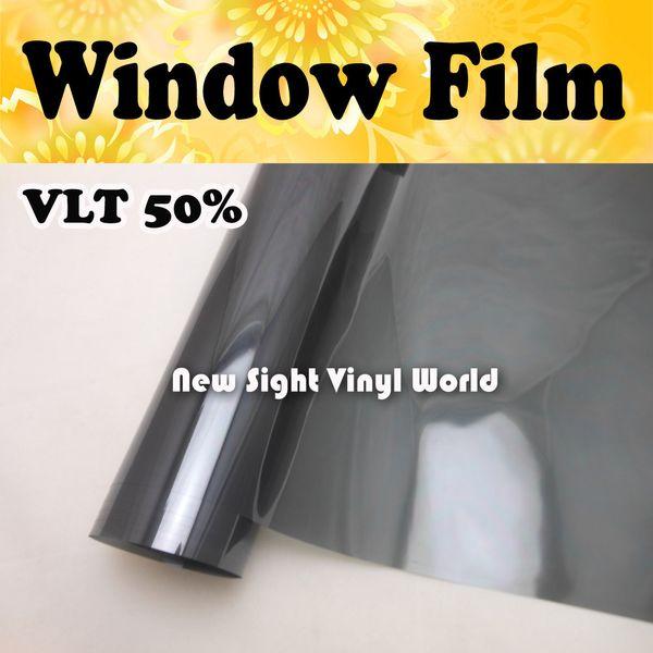 VLT 50% Car Window Film Tint Window Vinyl For Vehicle Window Home Size:1.52*30m/Roll