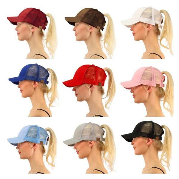 CC Ponytail Cap Messy Bun Women Ponytail Caps Cap Fashion Girl Basketball  Hats Back Hole Pony 85ff97d14c16