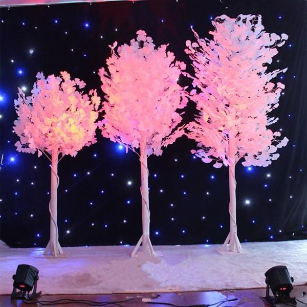 1.0 m 1.2 m 1.5m boyunda Düğün beyaz imitasyon ağacı, beyaz yaprak, düğün centerpieces vazo