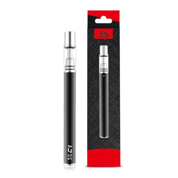 Disposable Vape Pen 5S C1 C2 320mah 0.5ml Ceramic Coil Glass Disposable E Cigarette Factory Supply