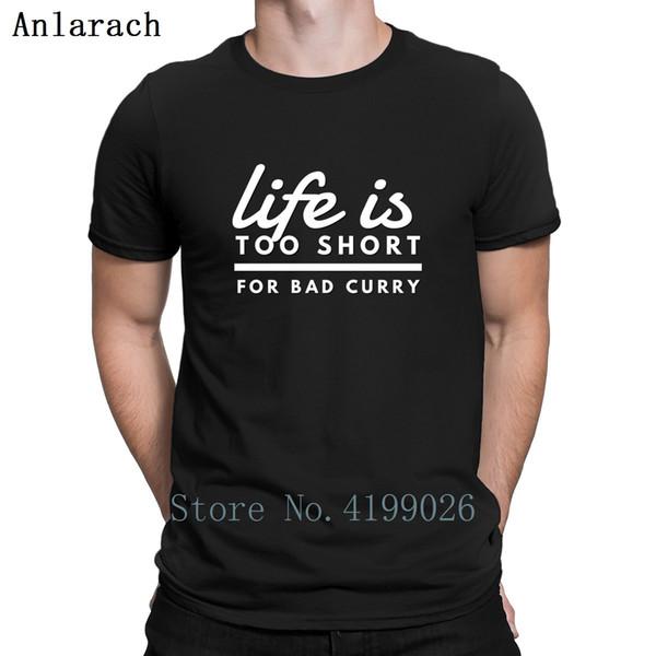 dc7b7f119393 Compre A Vida É Curta Muito Para Bad Curry Comida Indiana Camisetas Hip Hop  Família Letras Imprimir Camiseta Plus Size Moda Verão Homme De ...