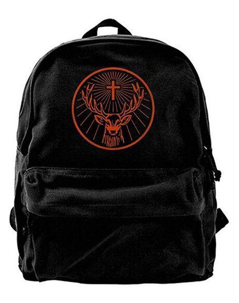 Jagermeister Canvas Shoulder Backpack Latest Backpack For Men & Women Teens College Travel Daypack Black