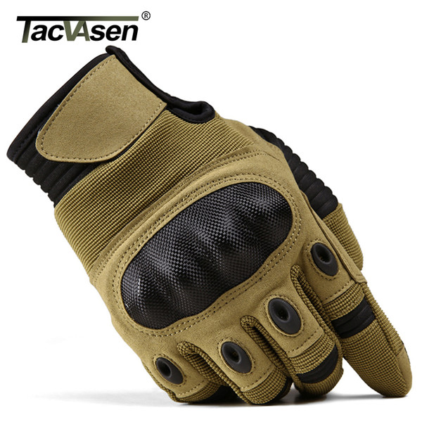 TACVASEN Military Tactical Army Men Anti-skid Full Finger Paintball Touch Screen Gloves C18111501