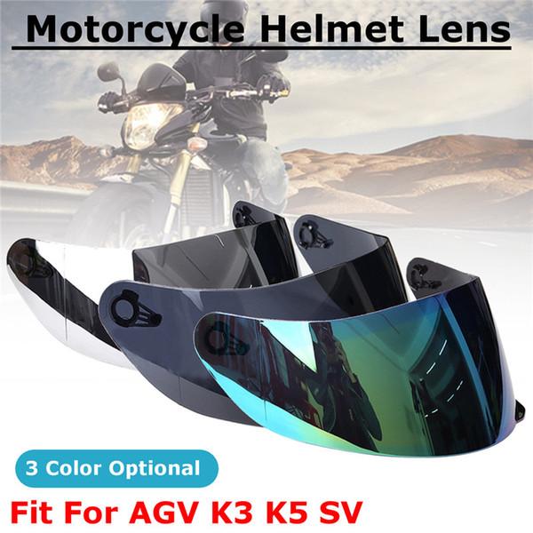 Full Face Motorcycle Helmet Visor Lens Anti-scratch Glass Shield UV Wind For AGV K5 K3 SV Motorcycle Motorbike Accessories