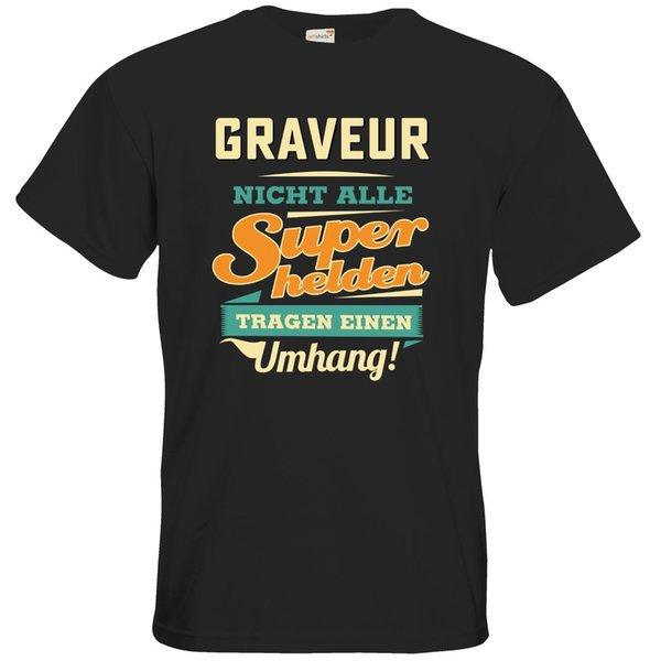 magliette da uomo RAHMENLOS® Geschenke Maglietta Superhelden Umhang Graveur ..