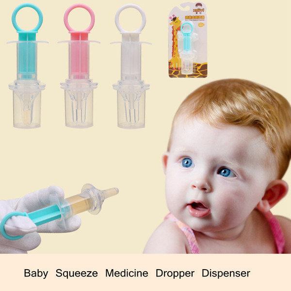 Baby Squeeze Medicine Dropper Dispenser Soft Silicone Kid Given Feed Medication Utensil Infants Syringe Device Nipple needle Feeding LJJA564