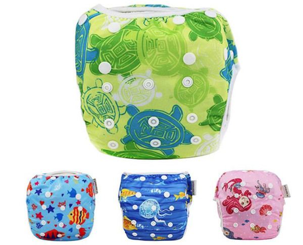 50pcs Unisex One Size Waterproof Adjustable Swim Diaper Pool Pant Swim Diaper Baby Reusable Washable Pool Diaper Y161