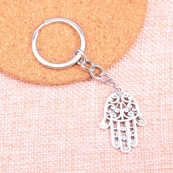 New Fashion 24*35mm hamsa palm hand protection KeyChain, New Fashion Handmade Metal Keychain Party Gift