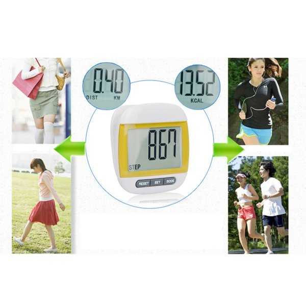 30x20x20mm Electronic Waterproof Pedometer Calories Counter Digital Running Step Counter With Large LCD