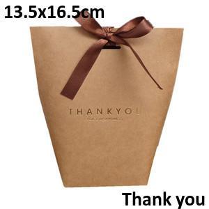 Brown Thankyou13.5*16.5cm