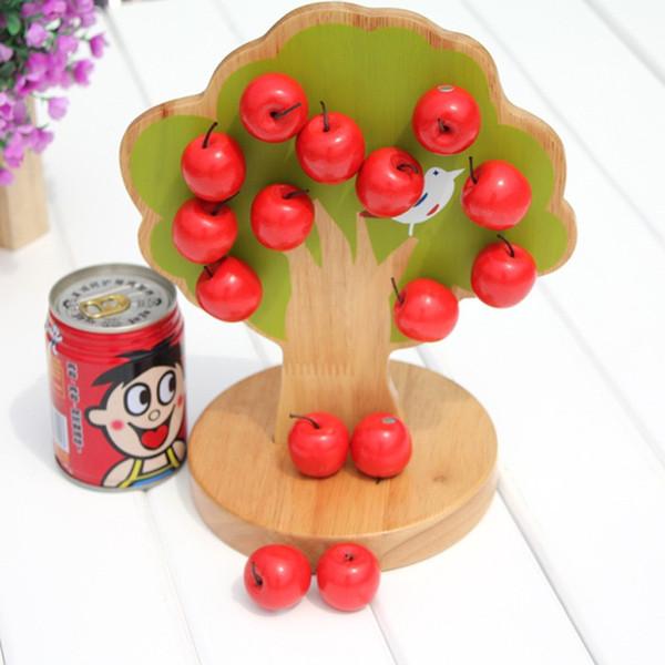 En bois magnétique Apple Tree jouet pratique Building Block résistant à la construction pour les enfants Early Education Toy Factory Direct 35mt BB