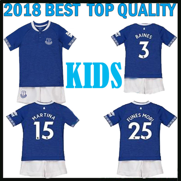reputable site d8d8a d2b38 2018 New 2018 2019 Walcott Everton Kids Kit Soccer Jersey 18 19 Rooney  Martina Home Sigurdsson Cenk Tosun Keane Everton Children Football Shirts  From ...