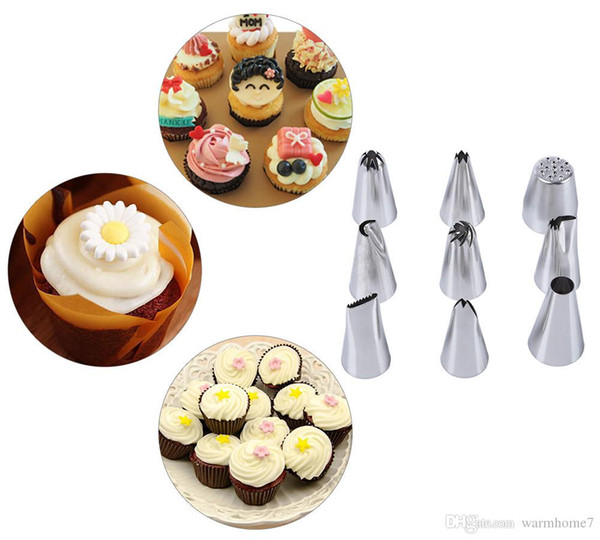 24Pcs Russian Tulip stainless steel Nozzles birthday Cake Cupcake Decorating Icing Piping Nozzles Rose Flower Cream Pastry Tips B