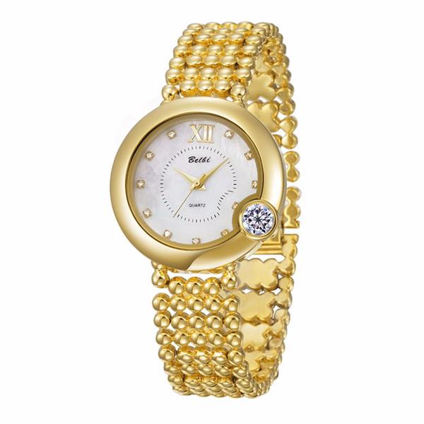 BELBI Lujo Relojes de Las Mujeres Exquisita Diamante Grande Dial de Aleación de Cuarzo Femenino Relojes de pulsera de Alta Calidad a prueba de agua Mujeres de China señoras de la marca fash