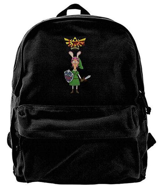 Bobs Burgers Toile Sac à dos à bandoulière Funniest Sports Backpack Pour Hommes Femmes Ados Collège Voyage Daypack Noir