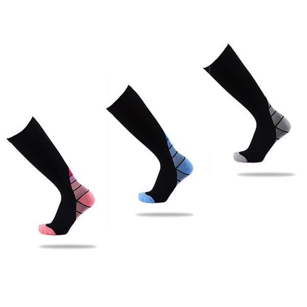 5pairs новые мужчины и женщины компрессионные носки градиент циркуляции давления анти-Fatiguu колено высокие ортопедические поддержки чулок AP194