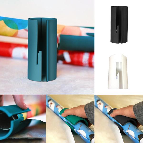 Emballage de papier Cutter Xmas Christmas Gift Packaging Outils de coupe de papier Gadget Facile Wrap Paper Cut coulissant outil à main