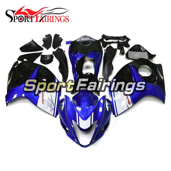 Kit de careta completa de motocicletas para Suzuki GSXR1300 Hayabusa 2008 - 2016 09 08 12 14 2015 2013 Carenados Sportbike Blue White Black ABS Carrocería