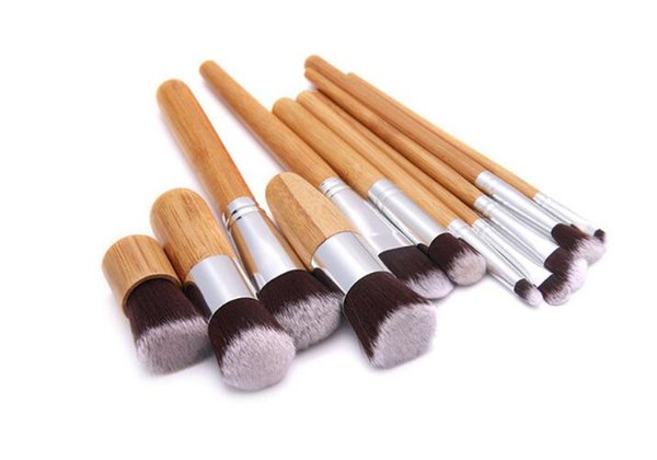 Профессиональная щетка 11 шт./лот бамбуковая ручка кисти для макияжа, 11 шт. макияж кисти набор косметики кисти наборы инструментов