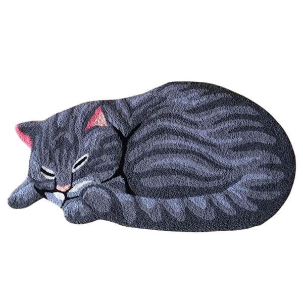 Sleeping Cat Carpet Rug Balcony Floor Mat Doormats Kids Bedroom Antiskid Area Rugs Living Room Hallway Floor Mat Carpet Doormat