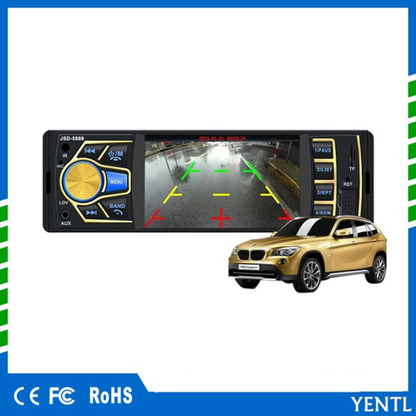 free shipping 4.3 in Wireless Remote Control Car DVD Mp3 Mp4 MP5 Player with Bluetooth FM Radio Car Stereo Reciverer Rear View Backup Camera