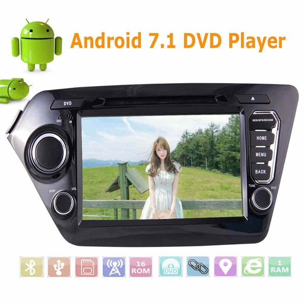 8'' GPS Stereo Android 7.1 car DVD Player Double 2 Din FM AM RDS Car Radio 1080p Video Bluetooth Steering wheel control
