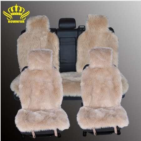 1 conjunto de longo-assento de lã cobre capas de assento do carro da pele do falso tamanho universal para todos os tipos de assentos para renault logan para dacia duster