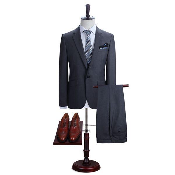 2019 Mens Wedding Suits Tuxedo Set Slim Fit Man Suits Brand Blazer Masculino Dress Suit For Men ukraine Groom wedding dress