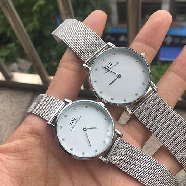 Fashion Top rose gold diamond 36mm 32mm ultra-thin waterproof ladies men casual Japanese quartz watch stainless steel watch