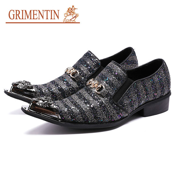 GRIMENTIN Hot sale Italian Formal Mens Dress Shoes Fashion Designer Black Oxford Shoes High Quality Leather Party Business Male Shoes