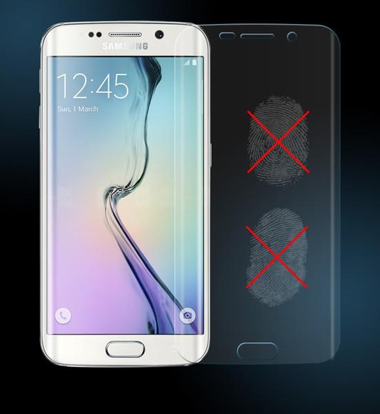 Samsung Galaxy için S8 S8 Artı S7 Kenar S6 Kenar Tam Kapak TPU Patlama Filmi Ekran Koruyucu 3D Kavisli Yumuşak Filmi Temperli Cam Filmi