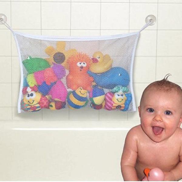 bag cloth Folding Baby Bathroom Hanging Mesh Bath Toy Storage Bag Net Suction Cup Baskets Shower Toy Organiser Bags ZQ675803