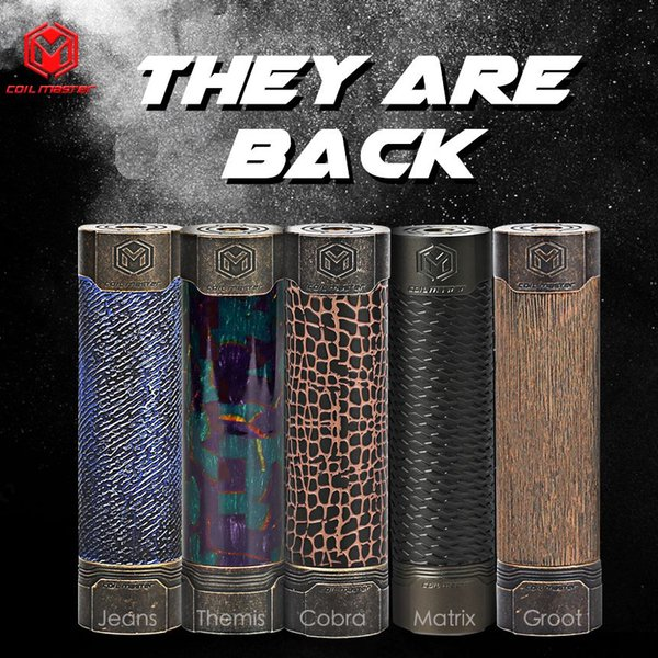 100% Original Coil Master Cobra Mech Mod / Matrix / Jeans / Groot Mech Mod  2018NEWEST Top Quality All CoilMaster Available Contact Freely E Smoke Mods