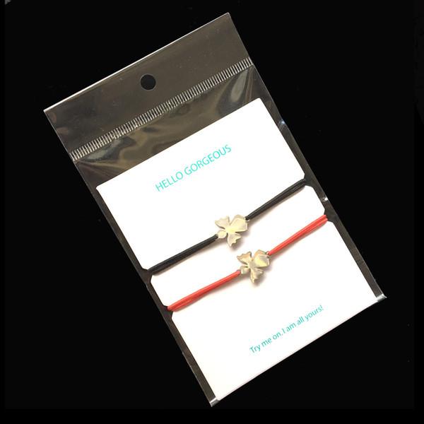 2pcs Wunsch Armband Edelstahl Charm Einstellbare Schnur Armband Herz Anhänger Elastische Schnur Glücklich Für Männer Frauen Kinder