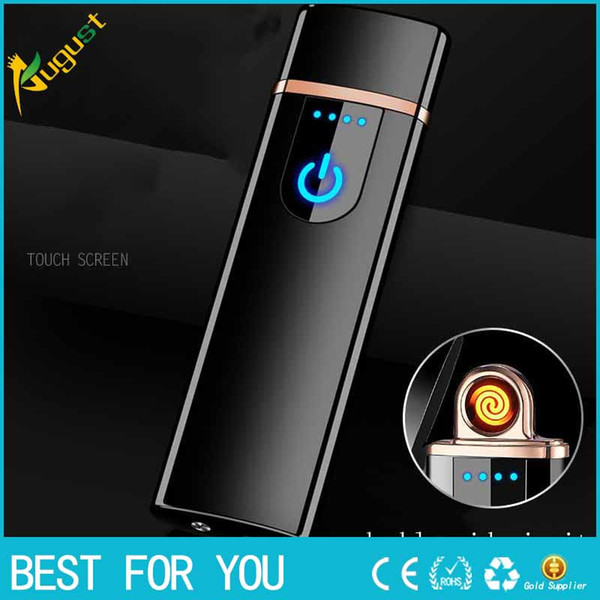 2018 New Usb charge electronic lighter windproof thin male personality Women electric heating wire colorful cigarette lighter