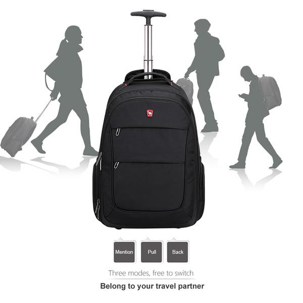 OIWAS Trolley Backpack Luggage Rolling Large Capacity Oxford Travel Bag Waterproof Business Suitcase Wheels OCB4318