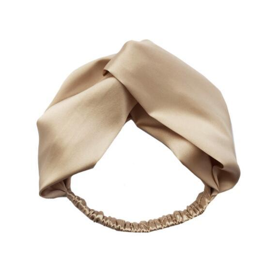 Fashion new solid color satin cross hair band hair accessories wholesale