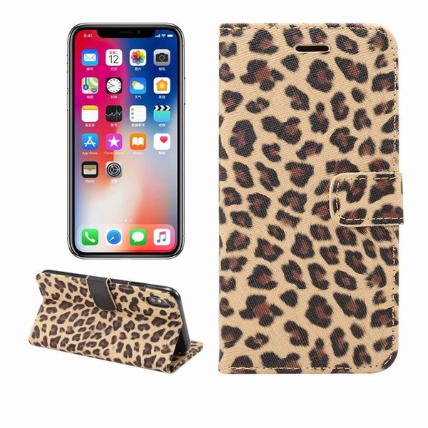 Sexy leopard print Leather Case For iPhone XS Max 6.5 inch Wallet Flip stand Cover carcasas With Card Slot Mobile Phone Bags