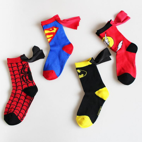 Spring and autumn superman series of hand-stitched mannequin stockings for boys and girls individual dance children sports socks free of fre