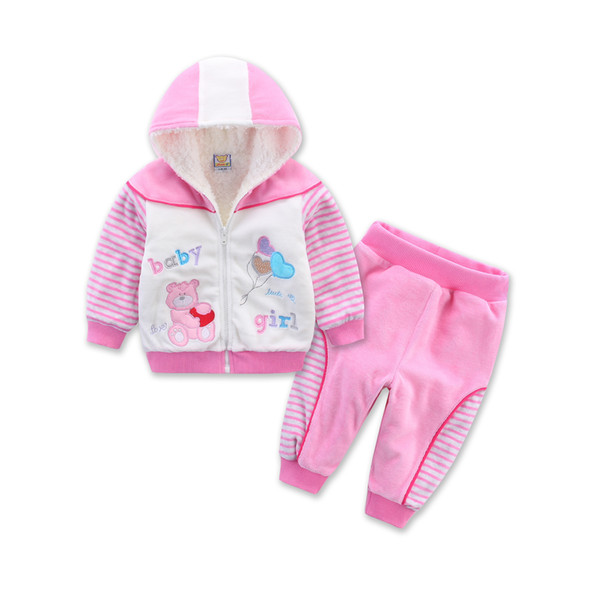 Little Q fashion Children's Outfits & Sets Velour kid winter clothes jacket cute baby boys clothing child costume green material baby suits