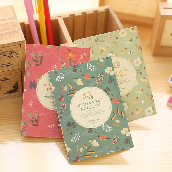 DL Corea papelería nueva flores coreanas y aves libro de bolsillo Taobao regalo 64 K portátil personalización equipo de enseñanza