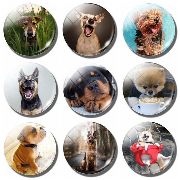 Lovely Dog Magnet Fridge Notes German Shepherd Magnetic Stickers Refrigerator French Canine Message Magnets Akitas Home Decor
