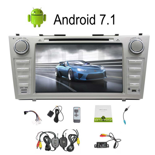 8'' HeadUnit Double Din Car Stereo Android 7.1 Car GPS car DVD Player Wireless Rear Camera WiFi 4G Mirror link Steering Wheel