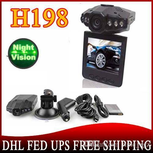 car dvr BY DHL OR EMS 10 pieces Dropshipping! 2.5 inch TFT LCD Car Camera with 120 degree,Night Vision 6 IR LED H198 SC189